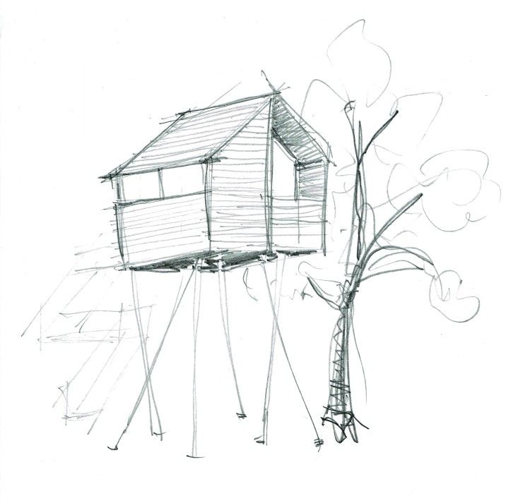 skizze stelzenhaus